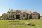 Mediterranean Style House Plan - 4 Beds 3.5 Baths 3518 Sq/Ft Plan #80-206 Exterior - Front Elevation