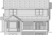 Traditional Style House Plan - 4 Beds 3.5 Baths 2287 Sq/Ft Plan #70-577 Exterior - Rear Elevation