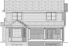 Home Plan - Traditional Exterior - Rear Elevation Plan #70-577