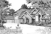 European Style House Plan - 5 Beds 3 Baths 3796 Sq/Ft Plan #329-310 Exterior - Front Elevation