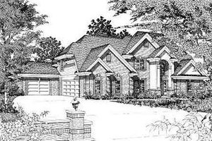 European Exterior - Front Elevation Plan #329-310