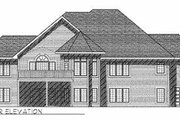 European Style House Plan - 3 Beds 3 Baths 2383 Sq/Ft Plan #70-380 Exterior - Rear Elevation
