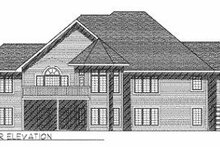 House Plan Design - European Exterior - Rear Elevation Plan #70-380