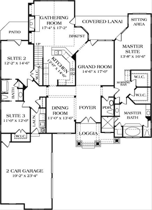 Craftsman Floor Plan - Main Floor Plan Plan #453-8