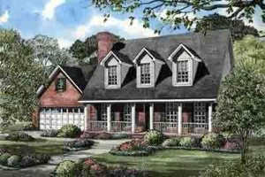 Country Exterior - Front Elevation Plan #17-626