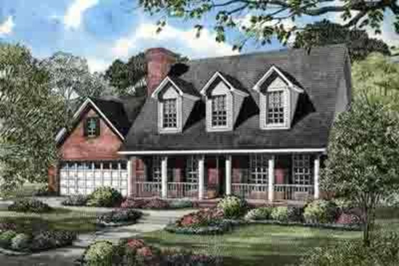 Architectural House Design - Country Exterior - Front Elevation Plan #17-626