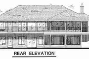 Ranch Style House Plan - 2 Beds 2 Baths 1649 Sq/Ft Plan #18-9210 Exterior - Rear Elevation