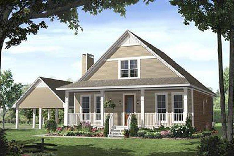 Farmhouse Exterior - Front Elevation Plan #21-227