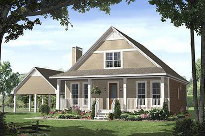 Dream House Plan - Farmhouse Exterior - Front Elevation Plan #21-227
