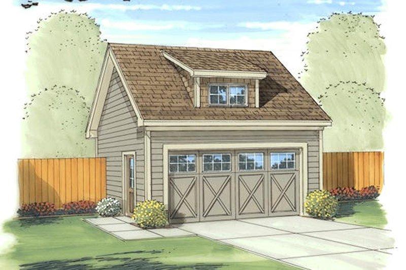 Cottage Exterior - Front Elevation Plan #455-71
