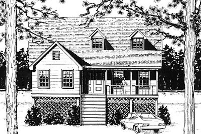 Home Plan - Traditional Exterior - Front Elevation Plan #14-218