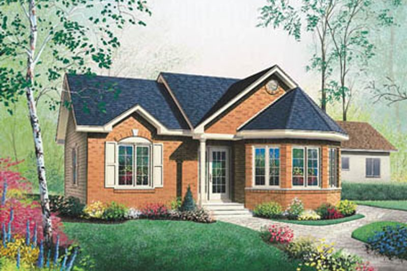 Architectural House Design - Traditional Exterior - Front Elevation Plan #23-184