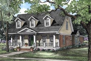 Country Exterior - Front Elevation Plan #17-281