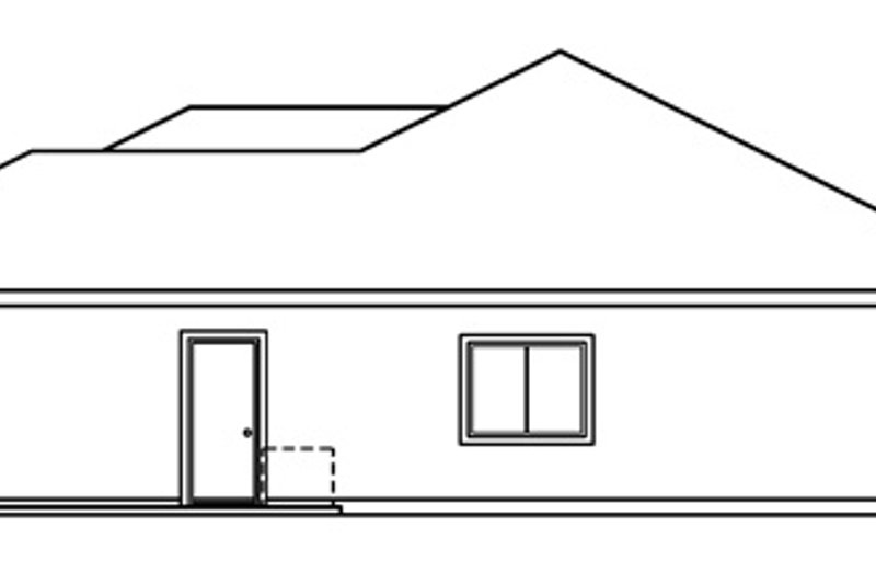 Ranch Exterior - Other Elevation Plan #124-385 - Houseplans.com