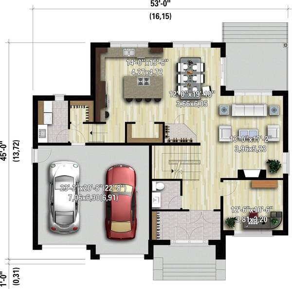 Dream House Plan - Contemporary Floor Plan - Main Floor Plan #25-4910