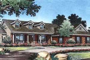 Country Exterior - Front Elevation Plan #417-176