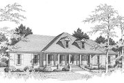 Colonial Style House Plan - 3 Beds 2.5 Baths 2485 Sq/Ft Plan #10-110 Exterior - Front Elevation