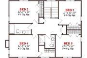 Cabin Style House Plan - 5 Beds 3.5 Baths 2866 Sq/Ft Plan #63-303 Floor Plan - Upper Floor Plan