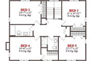 Cabin Style House Plan - 5 Beds 3.5 Baths 2866 Sq/Ft Plan #63-303 Floor Plan - Upper Floor