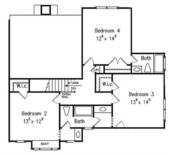 European Floor Plan - Upper Floor Plan Plan #927-20