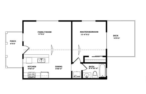 Craftsman Floor Plan - Main Floor Plan Plan #515-8