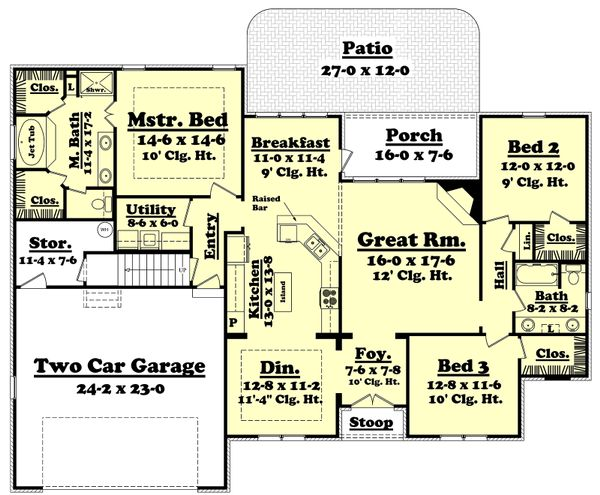 European Floor Plan - Main Floor Plan Plan #430-43