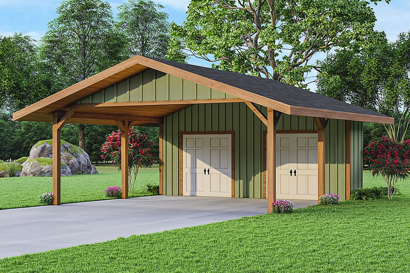 Traditional Style House Plan - 0 Beds 0 Baths 484 Sq/Ft Plan #124-1234