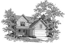 House Design - Traditional Exterior - Front Elevation Plan #70-227