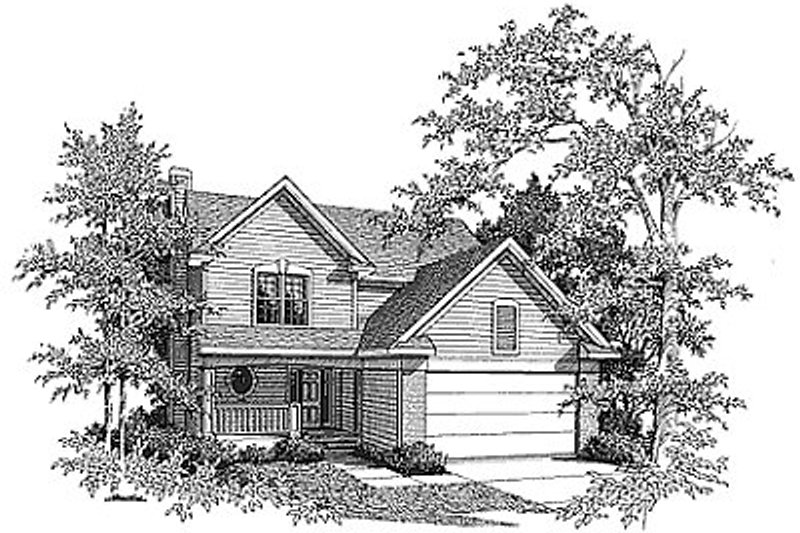 Traditional Exterior - Front Elevation Plan #70-227