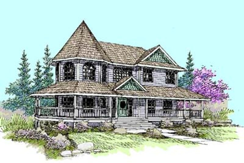 Victorian Exterior - Front Elevation Plan #60-459