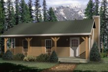 Cabin Exterior - Front Elevation Plan #22-127