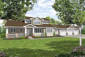 Country Exterior - Front Elevation Plan #50-238