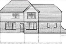 Southern Exterior - Rear Elevation Plan #46-354