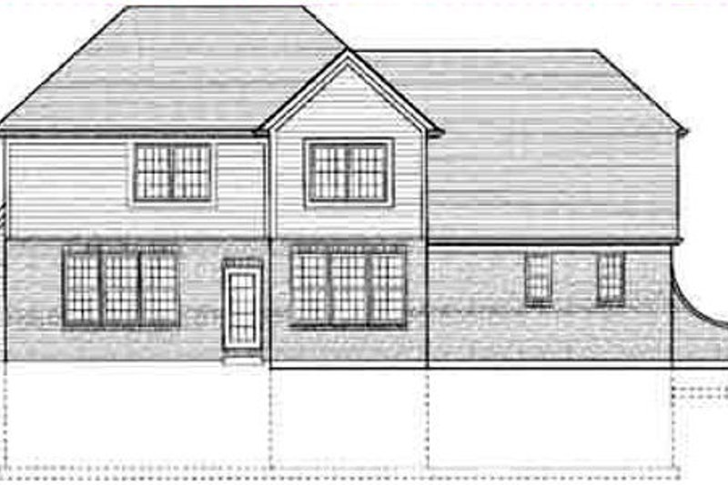 Southern Exterior - Rear Elevation Plan #46-354 - Houseplans.com