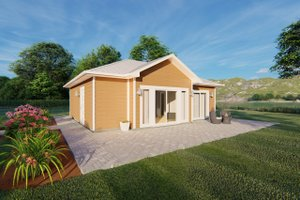 Cottage Exterior - Front Elevation Plan #126-222
