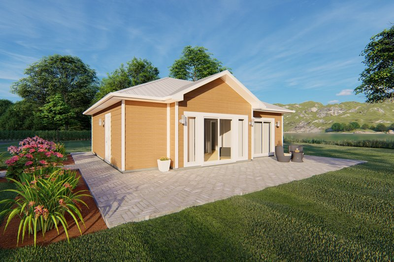 House Plan Design - Cottage Exterior - Front Elevation Plan #126-222