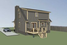 Cottage Exterior - Rear Elevation Plan #79-155