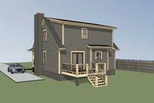 Dream House Plan - Cottage Exterior - Rear Elevation Plan #79-155