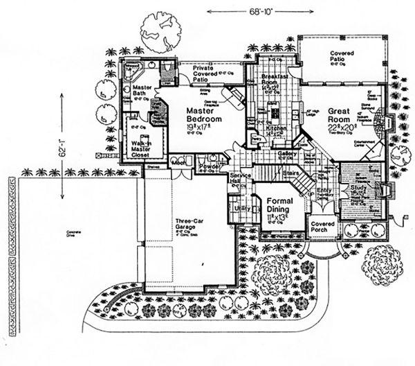 European Floor Plan - Main Floor Plan Plan #310-996
