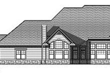 European Exterior - Rear Elevation Plan #70-887