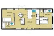 Cabin Style House Plan - 2 Beds 2 Baths 640 Sq/Ft Plan #504-8 Floor Plan - Main Floor Plan