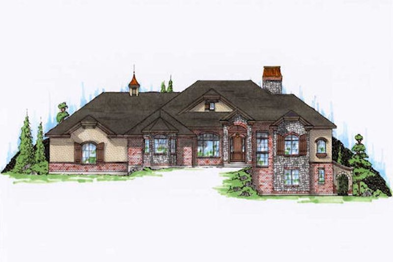 Home Plan - Traditional Exterior - Front Elevation Plan #5-323