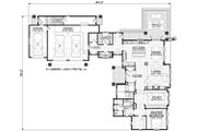 Traditional Style House Plan - 3 Beds 2.5 Baths 3761 Sq/Ft Plan #928-300 Floor Plan - Main Floor Plan