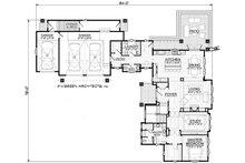 Traditional Floor Plan - Main Floor Plan Plan #928-300
