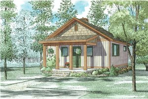 House Plan Design - Country Exterior - Front Elevation Plan #17-2604