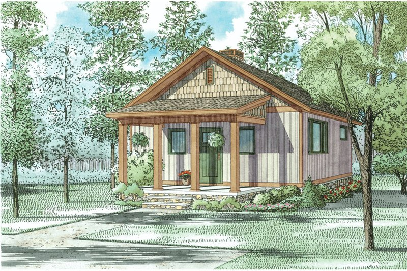Country Exterior - Front Elevation Plan #17-2604