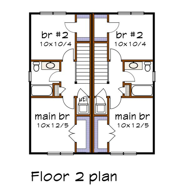 Southern Floor Plan - Upper Floor Plan #79-276