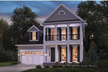 Dream House Plan - Colonial Exterior - Front Elevation Plan #48-648