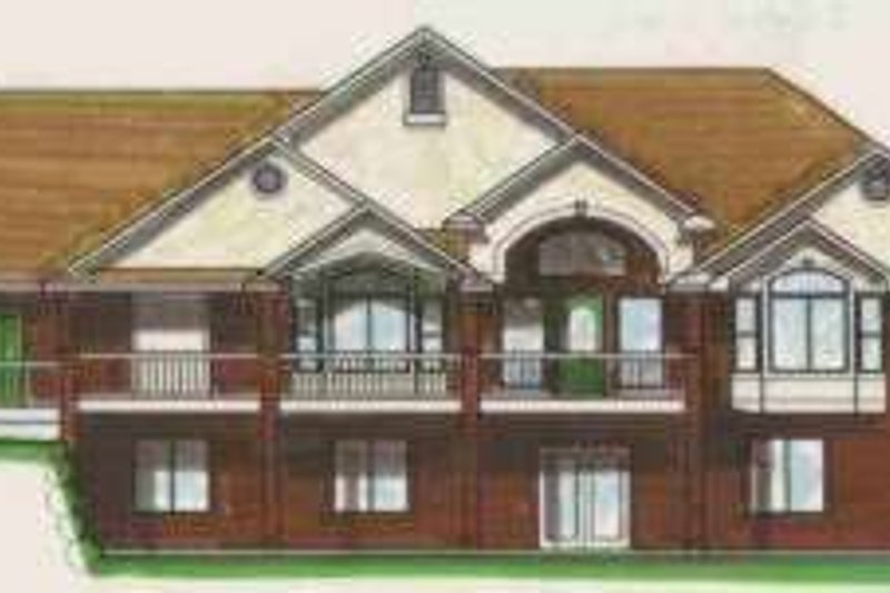 Traditional Style House Plan - 7 Beds 3.5 Baths 4228 Sq/Ft Plan #308-123 Exterior - Front Elevation