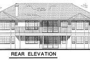 Ranch Style House Plan - 3 Beds 2.5 Baths 2035 Sq/Ft Plan #18-140 Exterior - Rear Elevation